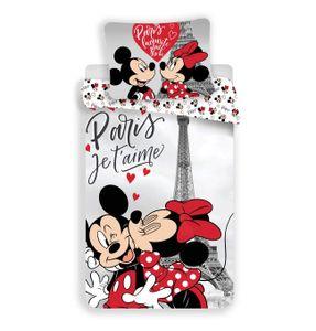 Disney Minnie Maus in Paris Eifelturm Bettwäsche Kopfkissen Bettdecke Micky 140x200 cm