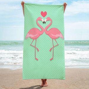 Premium Saunatuch Strandtuch Handtuch Badetuch Waschlappen Gästetuch Duschtuch 150x70cm Flamingos verliebt