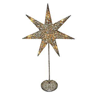 LED Weihnachtsstern Dekolampe, gold silber, Höhe 50 cm