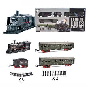 Simulation Klassische Lange Dampf Zug Verfolgen Elektrische Spielzeug Züge für Kinder Geburtstag Geschenk