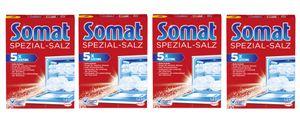 Somat Spezial-Salz 4er Pack Spülmaschinensalz Geschirrspülleistung 4x1,2kg
