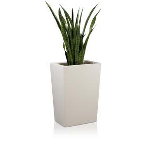 Pflanzkübel LARGO M 70 Kunststoff Blumenkübel, 50x36x70 cm (L/B/H), Farbe: weiß matt