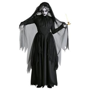 Schwarz (A) M $ Halloween-Kostüm neue Braut Zombie-Horror Geistkostüm Partei bar Bühne Vampir Teufel Kostüme