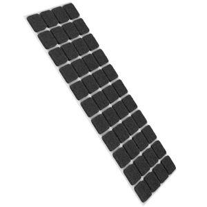 44 Stück Filzgleiter Möbelgleiter Selbstklebend 20x20mm Eckig - Grau - Stuhlgleiter