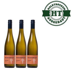 Weißwein Rheinhessen Scheurebe Weingut Dackermann Gutsriesling halbtrocken (3 x 0,75 l)
