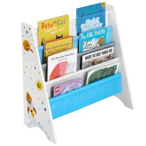 SONGMICS Bücherregal für Kinder | mit Kippschutz | 62,5 x 28 x 60 cm Kinderzimmerregal Spielzeug-Organizer weiß GKR72WT