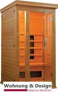 Infrarotkabine - Wärmekabine / 1 Person / Hemlock-Holz / Keramikstrahler / 90x90x190 cm
