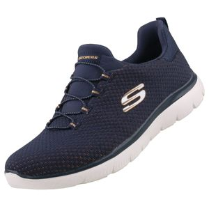 Skechers Damen Sneaker Sneaker Low Textil blau 39