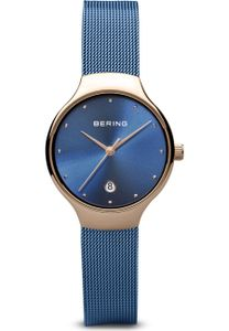 BERING Damen-Armbanduhr Analog Quarz Edelstahl eisblau 13326-368
