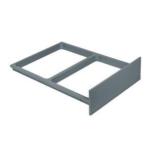 Systemrahmen Rahmen grau für Einbau-Abfallsammlersystem Original Hailo 1094099 Rahmen 470x335x108mm Clipsrahmen passend für Raumspar-Tandem Rondo Einbauvarianten mit Auszugsystem