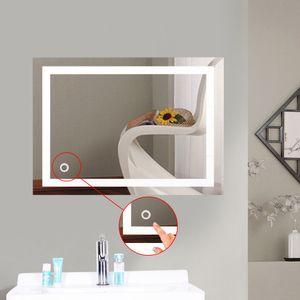BESTSELLER!!! LED Badspiegel 60x80cm Badspiegel mit Beleuchtung Badezimmerspiegel Wandspiegel mit Touchschalter Kaltweiß Licht