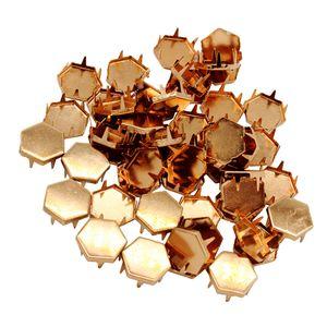 50 Stück Metall DIY Nieten Pyramidennieten Ziernieten Rivets Verzierung Farbe Rose Gold