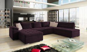 Mirjan24 Ecksofa Niko Bis, Bettkasten und Schlaffunktion, Sofa vom Hersteller, Polstergarnitur (Uttario Velvet 2963 + Uttario Velvet 2956, Seite: Links)