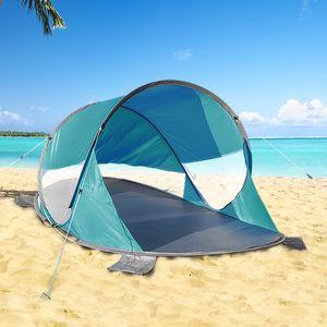 Pop Up Strandmuschel mit Tasche und Sandtaschen Blau