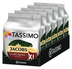 Tassimo Jacobs Caffè Crema Classico XL | 5 Packungen á 16 T Discs