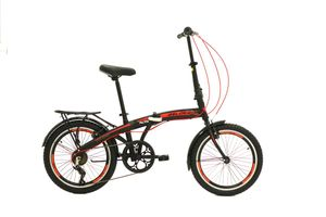 20 Zoll Camping Klapprad Klapp City Fahrrad Klappfahrrad Faltrad Rad Bike 6 Shimano Gang BelX5 Rot