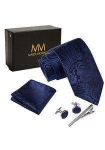 Massi Morino Herren Krawatte Krawattenbox Set