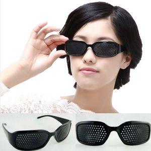 GKA Rasterbrille Brille Sehkorrektur Augentraining Lochbrille Sehhilfe Augen für Damen und Herren