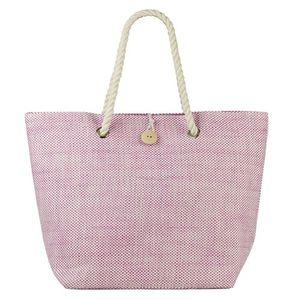 Beco strandtasche Denim-Look rosa