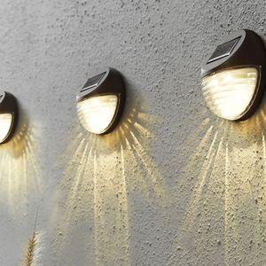 LED Fassadenleuchte 'Fency' - Solar - Dämmerungssensor - warmweiße LED - 3er Set