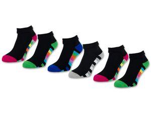 2 I 4 I 6 Paar Damen THERMO Socken Innenfrottee warme Wintersocken Umschlagsocken Bunte Ringel 12792 - 6 Paar 35-38