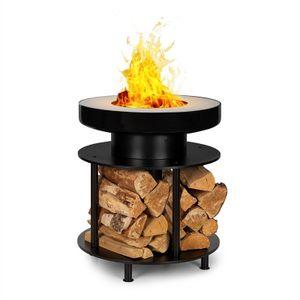 Wood Stock 2-in-1-Feuerschale BBQ-Grill Ø56cm Edelstahl schwarz
