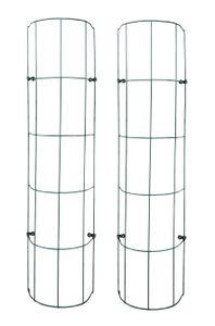 Rankhilfe für Fallrohre 200cm - halbrundes Gitter - Farbe: GRÜN