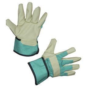 Schweinevollleder-Handschuh JUNIOR, Gr. 6-8, Farbe grün