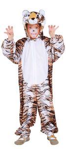 Tiger Kinder Kostüm als Raubkatze zu Karneval Fasching Größe 104