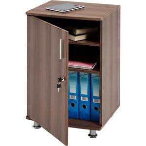 Stabile Schrank mit 3 Ablagen Büromöbel für Ordner Tür mit Schloss PIRANHA PC 4w