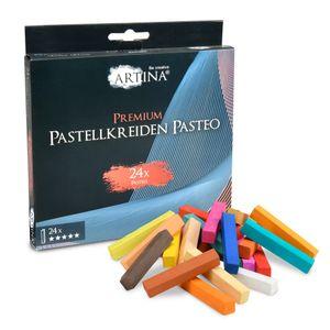 Artina Premium Pastellkreide Softpastellkreide Pasteo, Setgröße:24