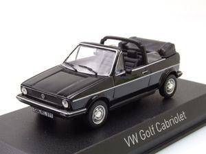 Norev 840074 VW Golf I Cabriolet schwarz Maßstab 1:43 Modellauto