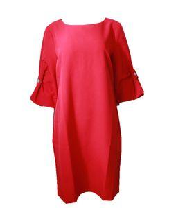 GUIDO MARIA KRETSCHMER Kurz-Kleid verspieltes Damen Jersey-Kleid mit Volantärmeln Rot, Größe:38