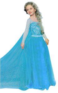 Kinder Eis-Prinzessin Kostüm 2-4 Jahre Gr. 100 Princess Königin Festkleid weiß Blau Mädchen Fasching Karneval Verkleidung Cosplay
