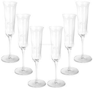 Nonino Grappa Longdrink Glas Gläser Set - 6x Gläser 2cl geeicht