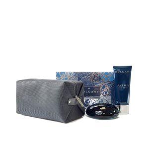 Bvlgari Aqva Homme Geschenkset 100ml EDT + 100ml Aftershave Balm + Toilettentasche