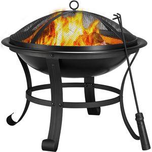 Yaheetech Feuerstelle Garten, Feuerkorb,  Feuerschale, Feuerschale für Außenterrasse Hinterhof Campinggarten, Firepit Terrasse