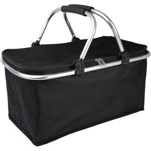 Isolierkorb, Einkaufskorb, Picknickkorb, faltbarer Isolierbeutel, schwarz, 41 * 27 * 23 cm