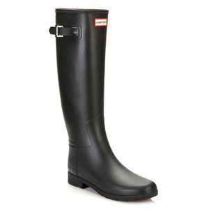 HUNTER Original Refined Damen Gummistiefel Schwarz Schuhe, Größe:37