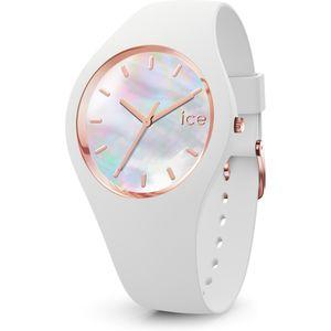 Ice-Watch 016936 ICE pearl white Medium Uhr Damenuhr Kautschuk Weiß