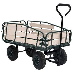 Gartenwagen Metall und Holz 250 kg