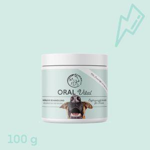 Oral Vital 100 g - Zahnpflege Hund gegen Mundgeruch - unterstützt aktiv bei Zahnstein, Plaque, Zahnbelägen und Verfärbungen