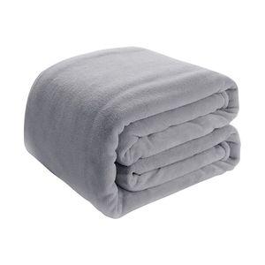 i@home 200x220cm Decke Verdicken Sie warmes Fleece Decke werfen Schlafsofa Weiche Tagesdecke Bequeme Decken Hellgrau