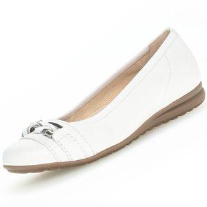 GABOR Comfort Damen Ballerinas Weiß, Schuhgröße:EUR 39