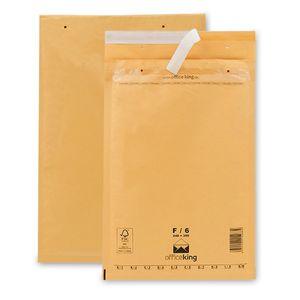 100 Luftpolstertaschen/ Luftpolsterumschläge F/6 (240 x 350 mm) braun