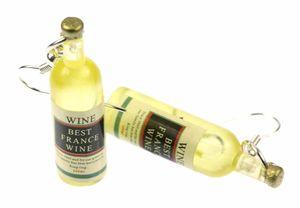 Flaschen Ohrringe Weinflaschen BEST FRANCE WINE Miniblings Ohrhänger Weißwein