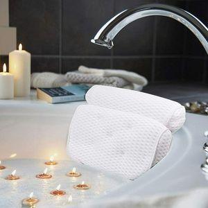 Melario Badewannenkissen Badewanne Spa-Kissen Badekissen mit 4D Air Mesh und 7Saugnäpfen