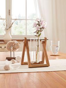 Vasenhalter 'Rustic' Gefäß Dekoration Tisch Deko Blumen zeitlos