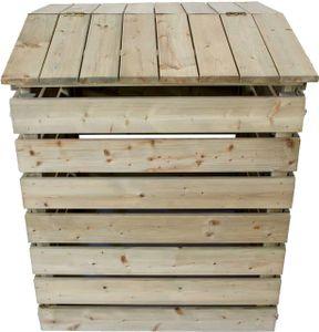 Komposter aus Holz mit Deckel, Kompostierer, Holzkomposter