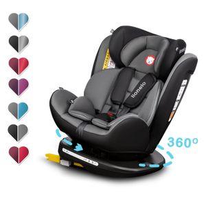Lionelo Bastiaan kindersitz 0-36 kg ISOFIX 360° Autokindersitze Kinderautositze Gray-Schwarz